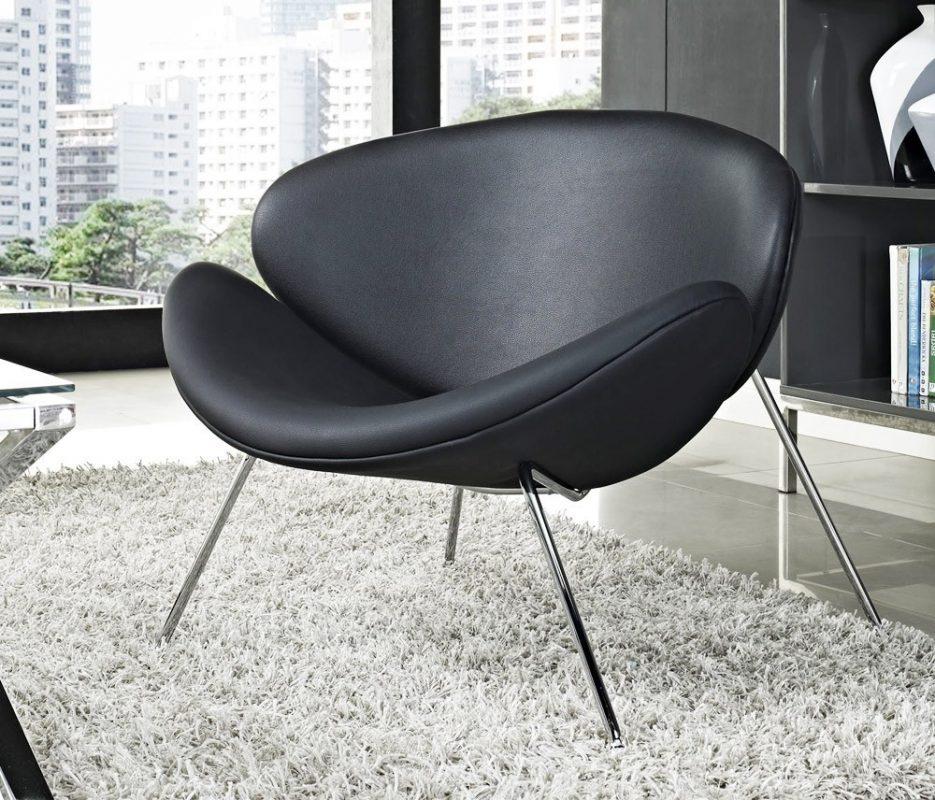 sillón de trébol negro