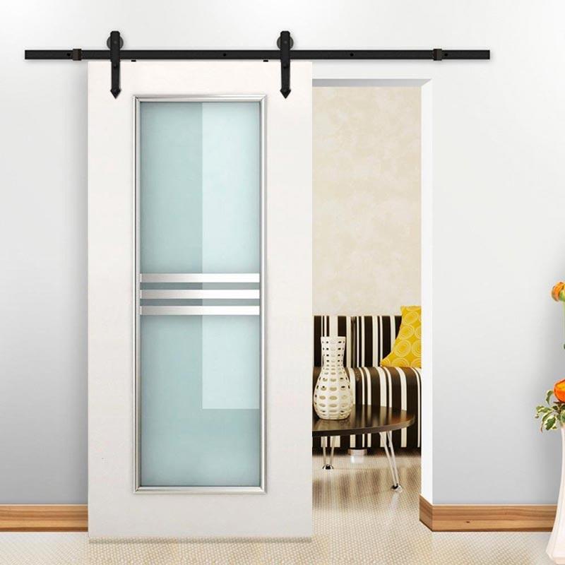 Puertas corredizas de vidrio para interiores.