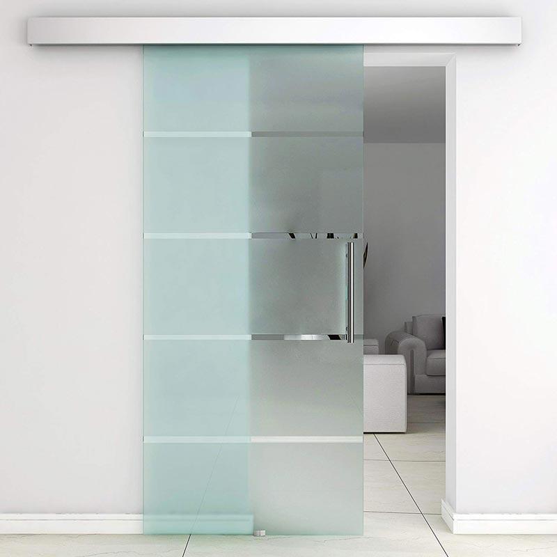Puertas correderas de cristal.