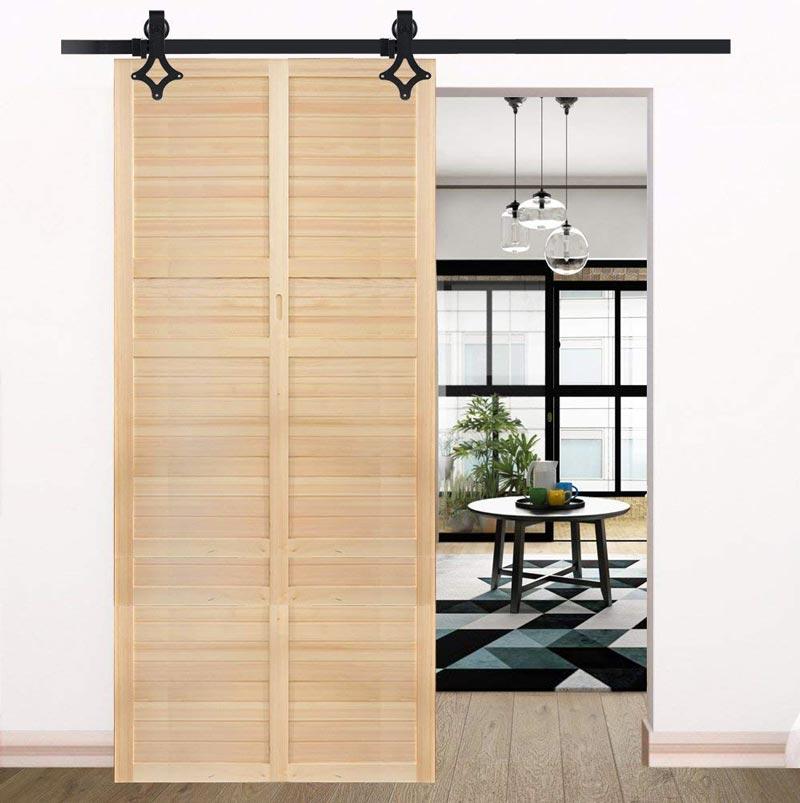 Puertas correderas de madera.