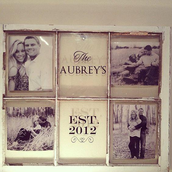 Convierte una ventana vieja en un marco de fotos