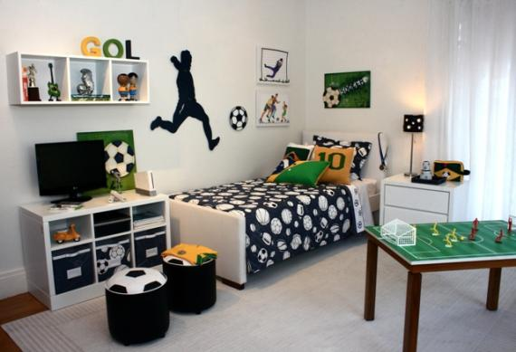 Habitación de niño con pegatina de jugador n Parete