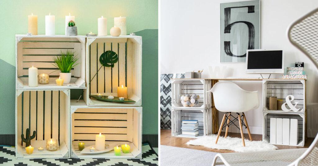 He aquí cómo amueblar nuestra casa con sencillas cajas de madera: inspírate