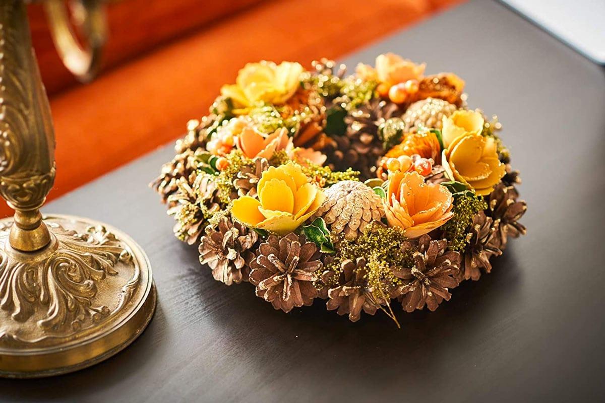 Corona de invierno de bricolaje para decorar tu hogar