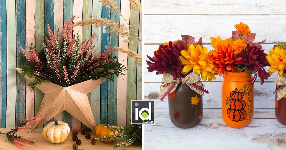 Le decorazioni fai da te per l'autunno.